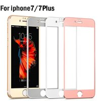 alluminum alloy - 3D Full Cover Tempered Glass For iPhone Plus S Clear Curve Titanium Alloy Alluminum Explosion Anti Shatter Film Protector