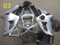 Wholesale NINJA Kawasaki Siliver ZX R Fairing kits Ninja ZX6R Year Motorcycle Fairings injection mold ABS Cowling Free Gifts
