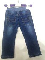 baby rib - New Baby Boy Jeans Boy clothing Elastic Jeans Blue Washed Jeans Blue Ribbing Elastic Waist Baby Boy Jeans