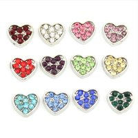 Cheap Heart Birthstone Charms With Crystal 12 Mix Colors Floating Charms Fit Living Glass Locket 120pcs SH1049