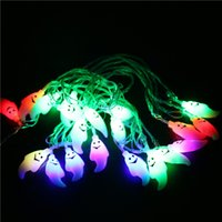 Wholesale US EU UK Standard Colorful Meters Christmas Hallowmas Ghost LED String Lights LED Beads Holiday Decoration