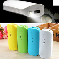 Wholesale 5600mAh Power Bank USB External Mobile Backup Powerbank Battery for all phone colors