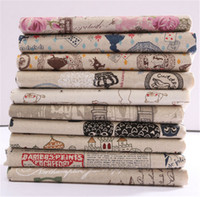 Style:Dobby Product Type:Other Fabric Suede Fabric Type:Vintage Printing Carto 78X51CM Vintage Printing Pattern Cloth Natural Cotton Linen Fabric Quilting Patchwork Sewing DIY Textile Multi Pattern Option