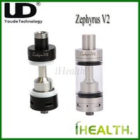 Replaceable 6.0ml Glass Authentic! Youde UD Zephyrus V2 Sub-Ohm Rebuildable Tank Atomizer 6.0ml Capacity 22mm Diameter Top Filling Optional RBA head 1.8ohm OCC