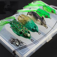 anti worm - 10 boxes Fishing Lure Hooks Single double hook Ray frog Anti bite line Set Artificial Lures Soft bait Carp Fishig Tackle Fishing Hook