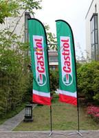 Wholesale 4m tall Custom Beach flag printing Feather Flag High quality beach banner Company logo printing flag