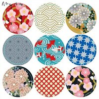Wholesale Vintage Pattern Gift Caxia Paper Sticker cm Cupcake Decoration Adhesive Label Sticker PP483