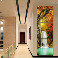 arts framework - Gift paper panel wall post modern waterfall tree drawing pictures corridor landscape art canvas sitting room no framework