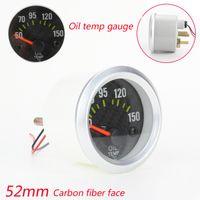 Wholesale Oil Temp Gauge Meter With Sensor mm Car Oil Temp Meter Carbon Car Oil Temperature Gauge Auto Gauge tachometer