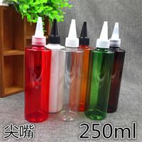 Wholesale Shampoo Bottle Lids - 250ml Big Color Plastic Shampoo Bottle Beak Lids Multifunctional Refillable Makeup Bottle Cosmetic Containers 50pcs lot FZ142