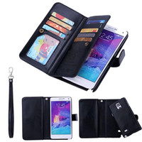 apples leather - Magnetic Removable Card PU Leather Wallet Case Flip Cover For Samsung Galaxy S7 S6 Edge Plus Note iphone SE s Plus s LG G3 G4 G5