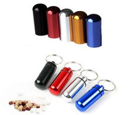 Wholesale Survival Waterproof Seal Pill Match Box Case Bottle Holder Keychain Container H210725
