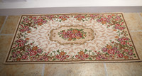 aubusson carpets - Factory directly sell jacquard floral pattern carpet mat rug anti slip home decor home decoration
