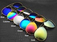 aviation sun glasses - Cheap Men Women Designer Fashion Sunglasses Mirror Aviation Shades Men Women Brand Sun Glasses With Original Package