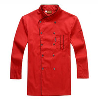Wholesale Long sleeved autumn hotel chef uniform chef jacket wear double breasted chef clothing new hight qualith dree