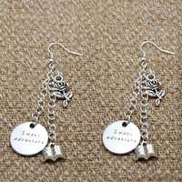 belle south - 10pairs Beauty and the Beast Inspired earrings Belle I want adventure Silver tone crystal women or girls earrings