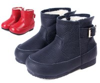 Wholesale New Handmade Toddler Little Kids Boots Genuine Leather Thick Wool Linning Soft TPR Sole Anti slip Cold proof Years Old