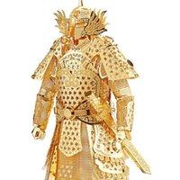 Wholesale Kids Adult Toys D Construction Figures Model Puzzle General Samurai Warriors Armor for Children Tangram DIY Jointing Handmade