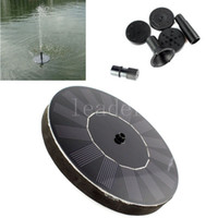 Wholesale 5pcs Solar Power Brushless Submersible Water Pump Floating Panel Pool Pond Watering XQ0140