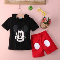 Wholesale Baby Boy Cartoon clothing Summer Girls Kids Minnie Mouse Clothes Tops Dress tutu Pants Outfit Suit