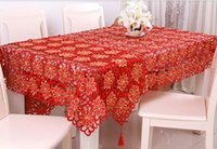Wholesale Christmas embroidery table cloth home decor handmade tablecloths Xmas decoration