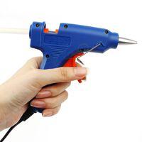 Wholesale 20W EU Plug Hot Melt Glue Gun Professional High Temp Heater Repair Heat Tools Pistolet a colle With pc Glue Stick FY10493