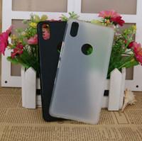 Wholesale Hot Fashion Black Matte Case For BQ Aquaris X5 Plus Soft TPU Case Half Of Transparent Back Cover For BQ Aquaris X5 Plus