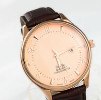 battery citizen watch - 2016 Luxury brands Leather strap Watch Sports DZ Men quartz watches Citizens Fashion Business clock Men Relogio Masculino