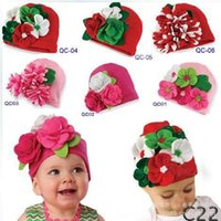 baby girl hats - High Quality Winter Baby Infant Toddler Flower Crochet Hat Christmas Costume Knitted Cap Girl Cap Style Children Hat