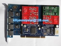 Wholesale TDM410P With FXO FXS PCI Analog card TDM410 TRIXBOX IP PBX ZAPTEL
