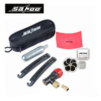 bicycle tire tools - SAHOO Multi function Bike Bicycle Rrepair Tools Kits With CO2 Inflatable Bottle Tire Pry Bar Tire Repair Paste Cycling Tools