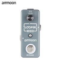 Wholesale ammoon AP Mini Loop Pedal Electric Guitar Single Effect Looper Unlimited Overdubs Minutes Recording True Bypass with USB