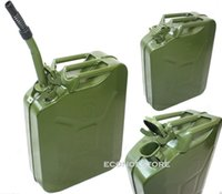 Wholesale 20L Storage Can Gas Fuel Steel Tank Green quot x quot x quot Gallon Jerry Can Military NATO Style