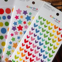 Wholesale 300 pieces sets x pieces Love round five pointed star stickers