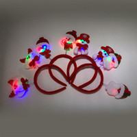army issue - The new Christmas tree with lights issuing children gift hair light buckle Santa Snowman bear a hoop