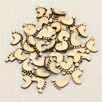 Graphic vinyl baby scrapbook embellishments - 50PCS Set Wooden Little Baby Feet Shapes Cut Board Blank Embellishments Card Making Scrapbook DIY Decor Ornament Craft Supplies