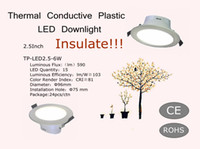 Wholesale Insulate Engergy Conservation Inch Thermal Conductive Plastic LED Downlight V W