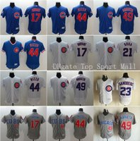 Wholesale Chicago Cubs Baseball Jerseys Kris Bryant Sammy Sosa Anthony Rizzo Ryne Sandberg Jake Arrieta Home Blue Road Gray White