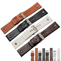 Wholesale Top Quality luxury watchband mm Mens leather strap available for Diesel watch DZ Wristwatch Correa De Reloj