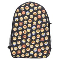 Wholesale Hot Selling A Women Fashion Backpack Printing Backpacks Canvas Emoji Backpacks for Teenage Girls Bag to School for Teenagers
