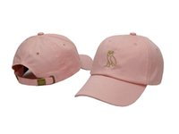 Wholesale Drake ovo october Classic OWL Gold Denim Snapback HAT ovo CORE COLLECTION cap Pink White Red Black Strapback Ian Connor gosha Sun baseball