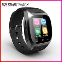 Wholesale Bluetooth Sport Smart Watch Wristwatch M26 Luxury Wrist Watch with Dial SMS Remind Pedometer for Samsung Huawei Andriod Phone