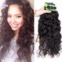 Wholesale 100 Human Hair Unprocessed Virgin Brazilian Human Hair Weave Wavy Queen Hair Brazilian Deep Natural Water Wave Hair