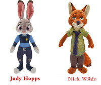 Wholesale Wild zoo classic lovely Judi rabbit doll Nicob Fox Can be used as a pendant on the bag car etc