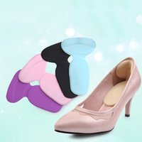 Wholesale New1 pair high heel shoe pad insoles Comfortable Silicone Gel Heel Cushion Protector Feet CareDrop Shipping