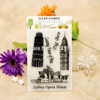 big accounting - Scrapbook DIY photo cards account rubber stamp clear stamp transparent stamp Big Ben Leaning Tower of Pisa x16cm KW651402