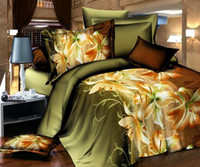Wholesale hot D bedding set queen size bed linen include duvet cover bed sheet pillow cases reactive printing