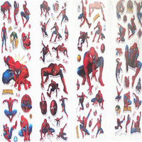 best japanese cartoon - 2016 New Japanese cartoon Spiderman Stickers kids anime stickers adhesive children puffy stickers toys the best Christmas gifts