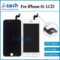 Wholesale 10PCS AAA Quality for iPhone s LCD Display Guranteed with D Touch Glass Digitizer Assembly Replacement Free DHL Shipping