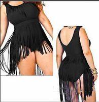 Além de roupas de banho de moda de tamanho Preços-2016 Moda mulheres swimwear um pedaço Swimsuit com babados banho traje de banho preto mais swimwear tamanho